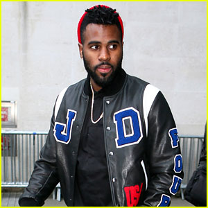 Jason Derulo Rocks a Custom Tour Jacket at Radio 1