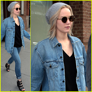 Jennifer lawrence rocks a denim outfit for nyc outing jennifer jennifer lawrence rocks a denim outfit for nyc outing voltagebd Image collections