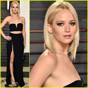 Jennifer Lawrence Shows Off Toned Tummy for Oscars 2016 After Party!