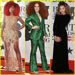 Fleur East Wows With New Red Hair At BRIT Awards 2016