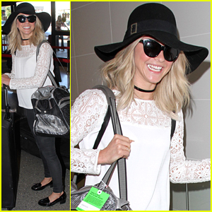 Julianne Hough Jets Off For Getaway After Girls Night In