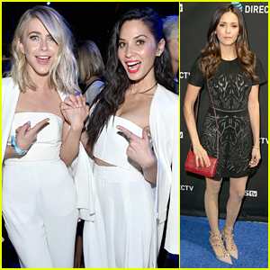 Julianne Hough & Olivia Munn Wear Same Thing To Same Super Bowl Party!