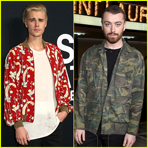 Justin Bieber & Sam Smith Attend Saint Laurent Show in Los Angeles