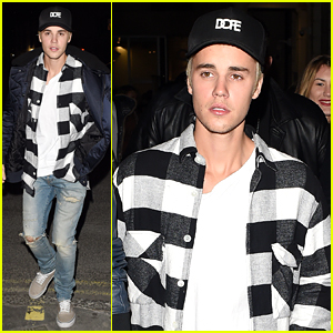 Justin Bieber Rehearses for Upcoming Performance on Brit Awards 2016