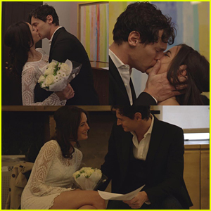 Kaya Scodelario & Benjamin Walker Share New Wedding Pics - See Them Here!