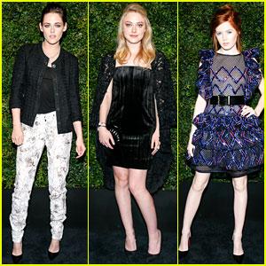 Kristen Stewart Celebrates at Chanel's Pre-Oscar Dinner with Dakota Fanning!