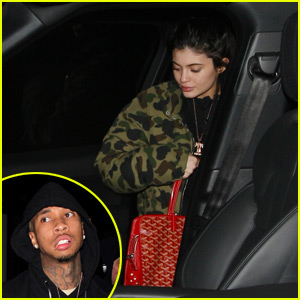 Kylie Jenner Keeps a Low Profile For Her Dinner Date with Tyga