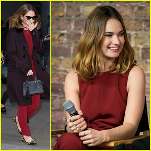 Lily James Hits London For 'Pride & Prejudice & Zombies' Promo