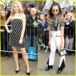 Lottie Moss Goes Mod For Topshop Show During London Fashion Week with Ella Eyre