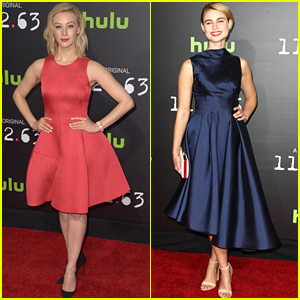 Sarah Gadon & Lucy Fry Doll Up For '11.22.63' Premiere in Los Angeles