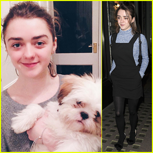 Maisie Williams Rescues Adorable New Puppy, Sonny - Meet Him Here!