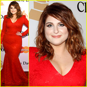 Meghan Trainor Wears Red Dress to Go With New Red Hair!