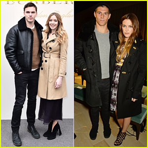 Nicholas Hoult Buddies Up with Sister Rosanna at Burberry Womenswear Fashion Show!