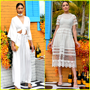 Chanel Iman Is A Summer Dream at Clicquot Carnival 2016 with Olivia Culpo
