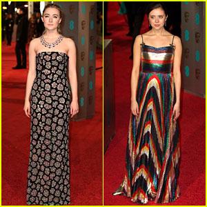 Saoirse Ronan Attends BAFTAs 2016 with 'Rising Star' Bel Powley