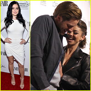 Sarah Hyland & Dominic Sherwood Couple Up For Vanity Fair & L'Oreal's DJ Night