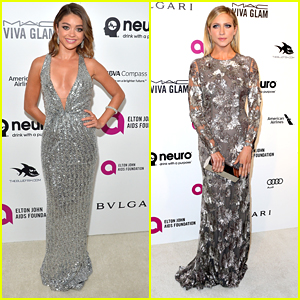 Sarah Hyland & Brittany Snow Step Out For EJAF AIDS Foundation's Oscar Viewing Party