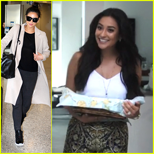 Shay Mitchell Jets To Toronto After 'Mother's Day' Trailer Debuts