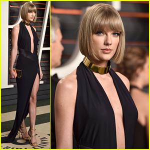 Taylor Swift Rocks All Black Look to Vanity Fair Oscar Party 2016