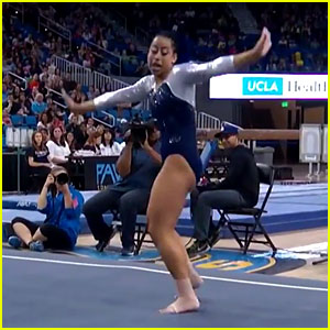 UCLA Gymnast Sophina DeJesus Goes Viral After 'Whip & Nae Nae' Floor Routine - Watch Now!
