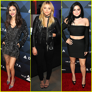 Victoria Justice & Ariel Winter Hit Delta Air Lines' Pre Grammy Celebration with Chloe Moretz