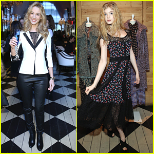 Yael Grobglas & Elena Kampouris Step Out For Nanette Lepore's NFYW Presentation
