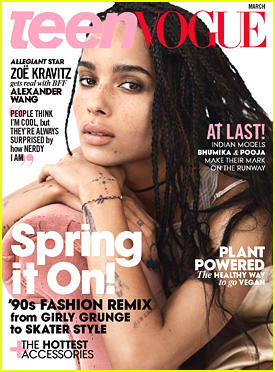 Zoe Kravitz To 'Teen Vogue': 'People Are Surprised How Nerdy I Am'