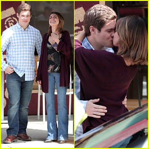 Sarah Hyland Kisses Adam Devine While Filming 'Modern Family'