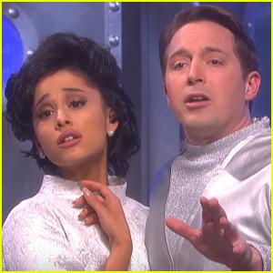 Ariana Grande Portrays Judy Garland in Space in Bonus 'SNL' Skit (Video)