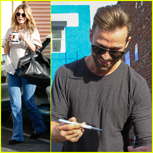 Artem Chigvintsev & Mischa Barton Meet Up For DWTS Dance Practice