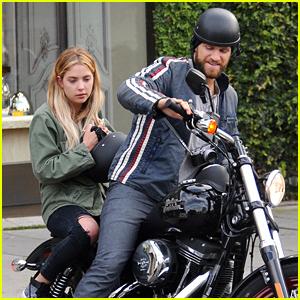 Ashley Benson Gets Motorcycle Ride From Keegan Allen