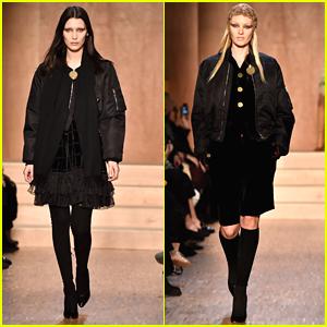 Bella Hadid Walks Givenchy Show During Paris Fashion Week