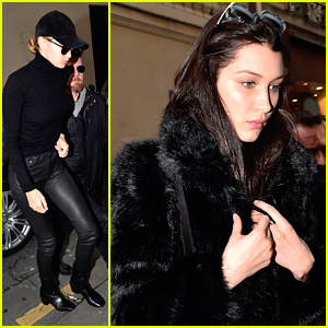 Bella Hadid Paints The Town With Sister Gigi in Paris