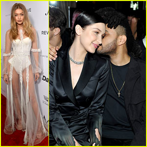 Gigi Hadid Wears Sheer Gown to Support Bella at Daily Front Row Awards