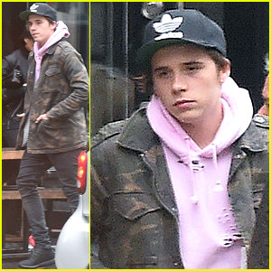 Brooklyn Beckham Grabs Lunch with Mom Victoria Before Birthday