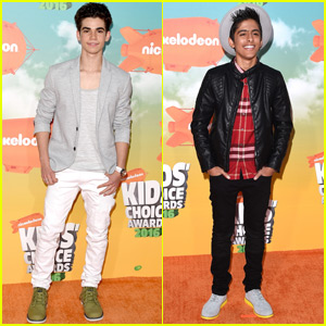 Cameron Boyce & Karan Brar Show Off Their Swag Kids Choice Awards 2016 Orange Carpet