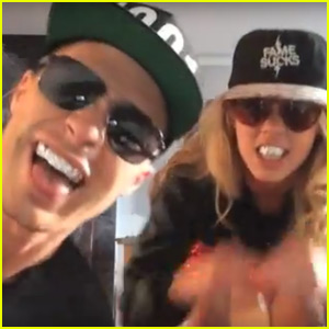 Colton Haynes & BFF Emily Bett Rickards Show Off Their Dance Moves to 'Shake It Off'
