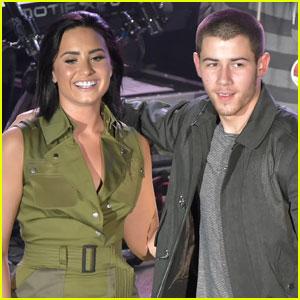 Nick Jonas & Demi Lovato Hit the Victoria�s Secret Swim Special Stage - Watch Now!