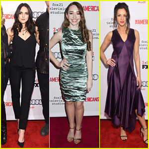 Elizabeth Gillies Supports Holly Taylor & Annet Mahendru at 'The Americans' Season Four Premiere