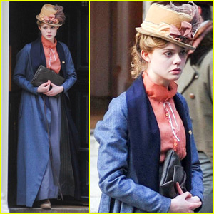Elle Fanning Gets in Costume for 'A Storm In The Stars'
