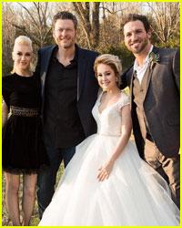 Gwen Stefani & Blake Shelton Attend RaeLynn's Wedding!