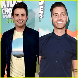 Jonathan Bennet & Nick Fradiani Support Their TV Shows at Kids Choice Awards 2016
