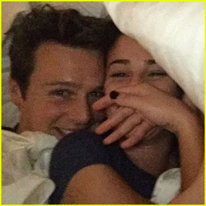 Lea Michele Says Jonathan Groff Makes Her the 'Happiest Girl in the World'