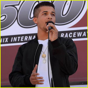 Jordan Fisher Performs National Anthem at NASCAR Sprint Cup Series Good Sam 500!