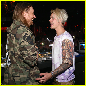 Justin Bieber Hits Up David Guetta's Set at Wynn Las Vegas After Concert