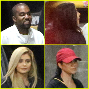 Kylie Jenner & Sisters Step Out for Justin Bieber Concert