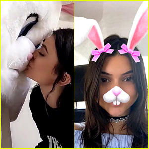 Kylie Jenner Kissed the Easter Bunny During Sunday Celebration!