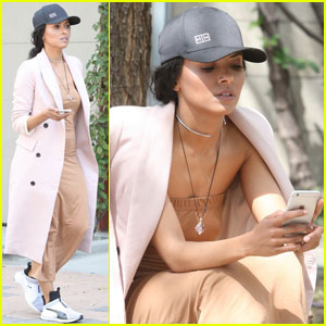 Kat Graham Spends Easter Sunday at the Studio