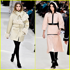 Gigi Hadid & Kendall Jenner Walk in Chanel Show During 2016 Paris Fashion Week