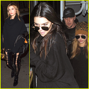 Kendall Jenner & Hailey Baldwin Dine Out at L'Avenue In Paris